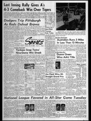 This week in BC Sports History - July 9, 1965