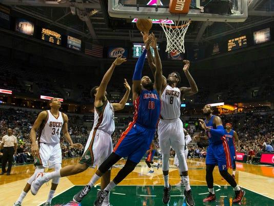 USP NBA: DETROIT PISTONS AT MILWAUKEE BUCKS S BKN USA WI