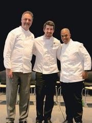 Chris Misiak, left, Ken Damphousse, center, and Chef