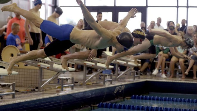 Central High School swimming.