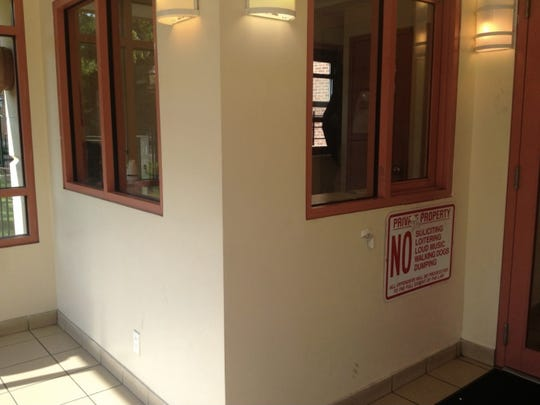 A security guard was fatally shot Monday, July 21, 2014, inside this security booth at 241 S. Ninth Ave. in Mount Vernon.