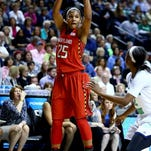 Alyssa Thomas of the Terrapinswas taken with the No. 4 pick in the WNBA Draft and then traded to Connecticut.