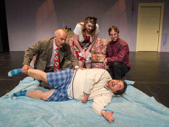 """Peter Sham, top left, seen here in the Neil Simon Festival's 2016 production of """"London Suite,"""" is the festival's new artistic director."""