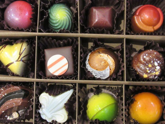 A sample of the offerings from Infusion Chocolates