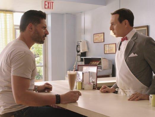 Pee-wee (Paul Reubens) meets a mysterious stranger