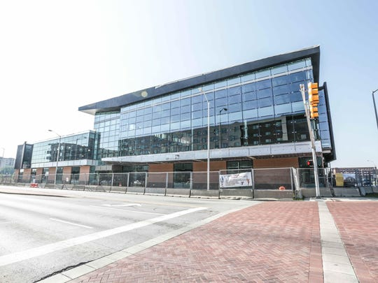The new CityWay YMCA, due to open in December 2015, is under construction at Delaware and South streets in Downtown Indy.