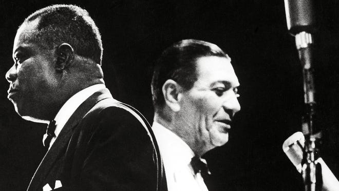 """Louis Armstrong, left, in """"Jazz on a Summer's Day."""""""