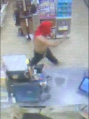 A man armed with just his finger pointed like a gun  unsuccessfully tried to rob a 7/Eleven in Bonita Springs  Wednesday morning.