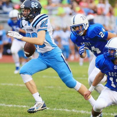Stevenson's Ian Knoph caught two touchdown passes Friday