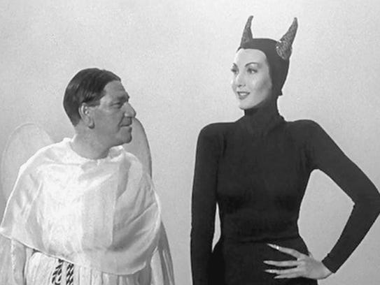 Sylvia attempts to tempt Shemp in a 'Three Stooges