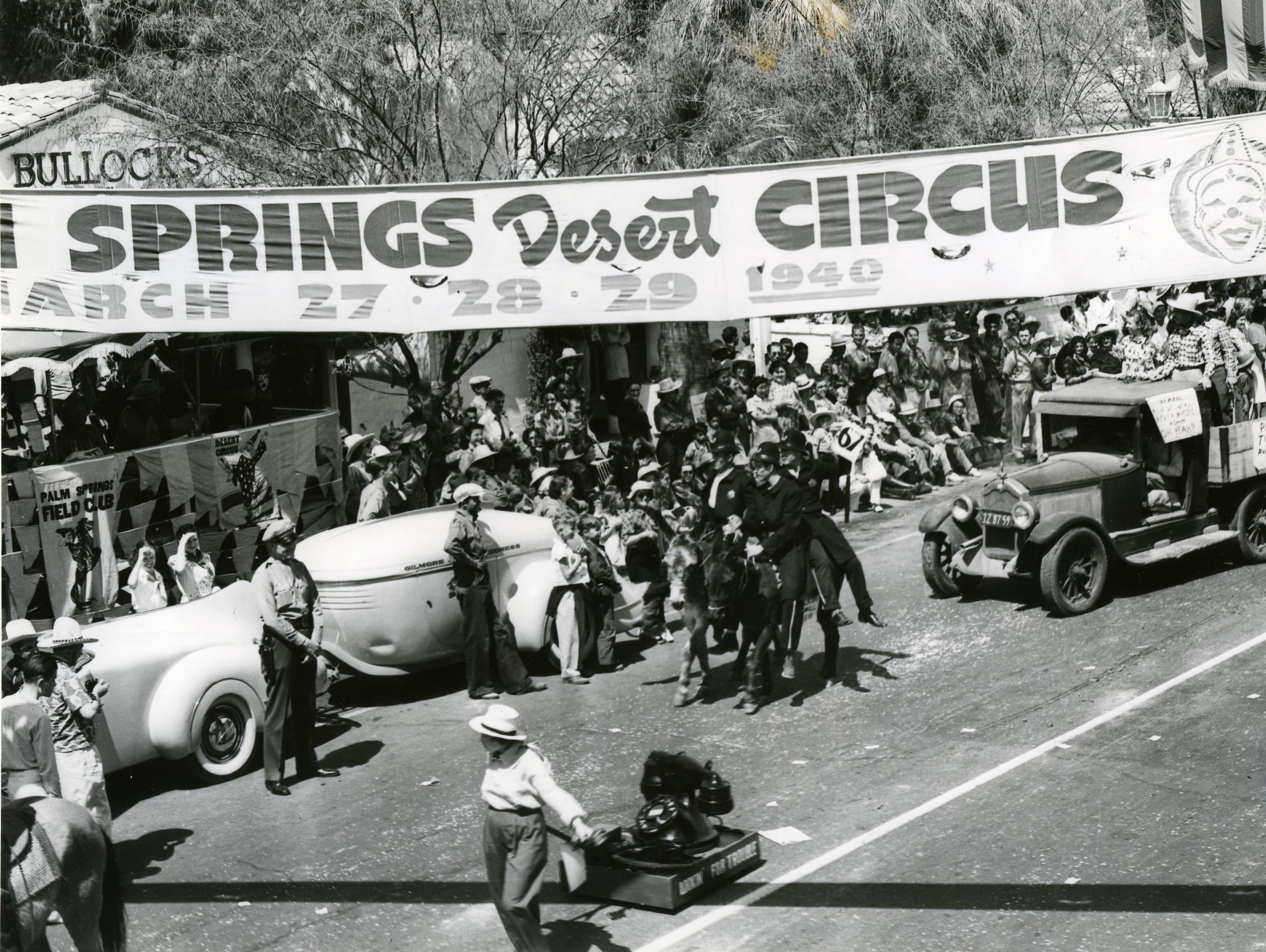 The Desert Circus Rodeo parade in March, 1940.