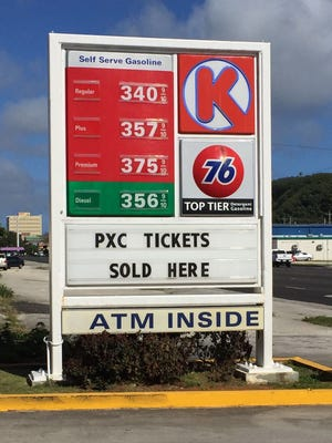 Circle K gas prices in Anigua
