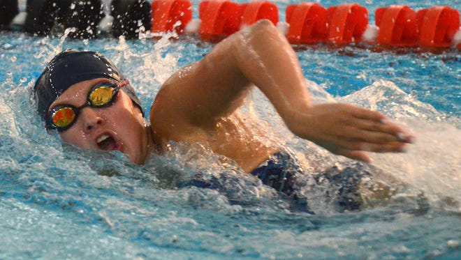 South Lyon's Emily Kososki finished third in the 200-yard freestyle.