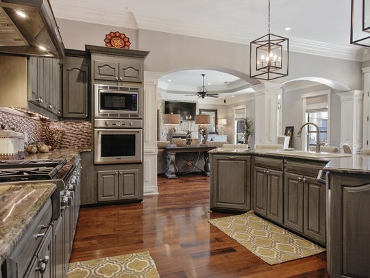 The decorator kitchen is a chef's dream.