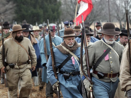 Re-enactors show up for the anniversary of the Battle of Stones River, which was fought Dec. 31, 1862, through Jan. 2, 1863.