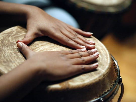 A drumming workshop during the Peace Learning Center's Annual MLK Festival in 2011.