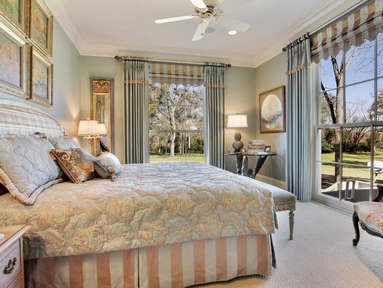 All bedrooms have stunning views o the gorgeous property.
