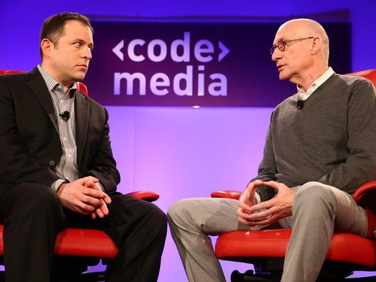 Recode's Peter Kafka with ESPN president John Skipper