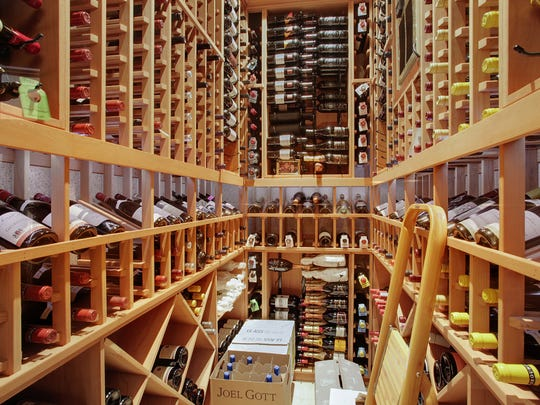 The estate comes with a full wine cellar.