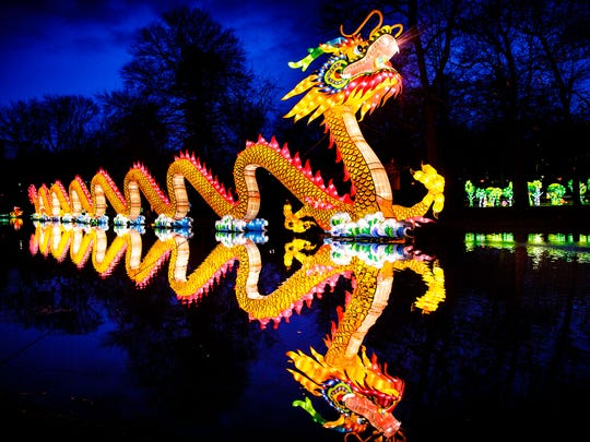 At more than 300-feet long, the lantern dragon promises to be a popular display.