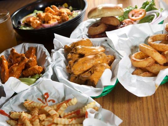 Wing Shack food offerings.