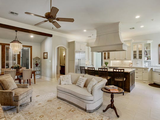 Gorgeous neutral tones accent the home's main areas.