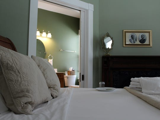 The seven guest bedrooms at Greenway House are a mix of nostalgic décor and modern amenities.
