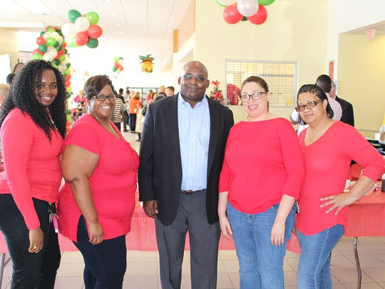Aramark representatives Maryanna McCray, Tracey Hightower, Tanya Whattley and Rina Sostre with Will Armstead, Executive Director, Boys & Girls Clubs of SLC
