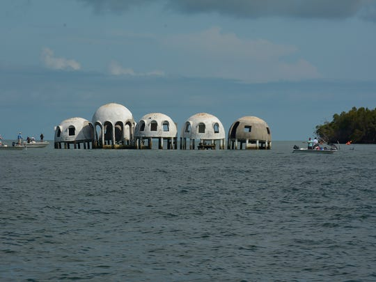 The Cape Romano dome home attracts a lot of visitors.
