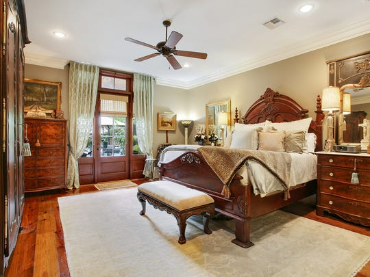 The master suite is luxurious and well-appointed.