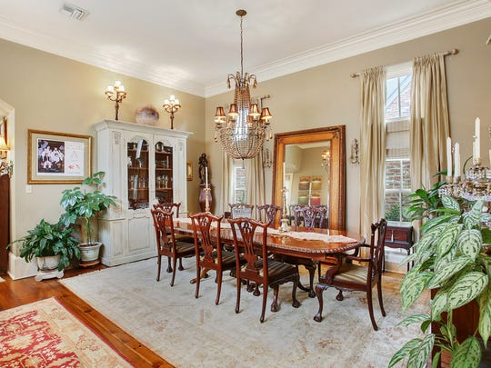 The large dining area can accommodate any gathering.