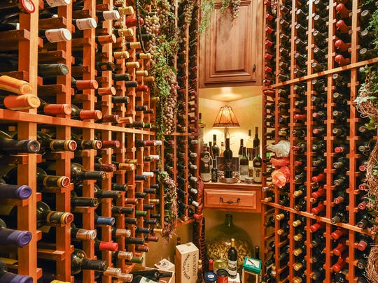 The home has a huge wine cellar perfect for the collector.