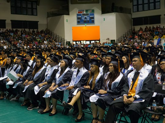The  2017 graduating class of Guam Community College is shown in this file photo.