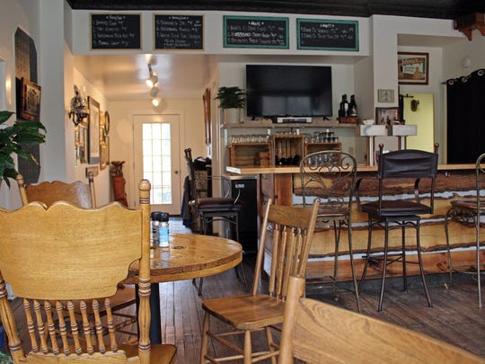 Lunch is served in a pub-style space at Roots Inn and