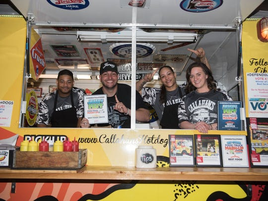 Dan DeMiglio and his crew from Callahan's food truck,