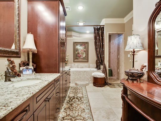 The master bath includes a huge closet and plenty of