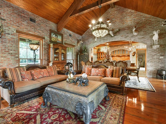There are gorgeous wood floors throughout the home.