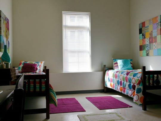 A dorm room at Montclair State University. The rooms