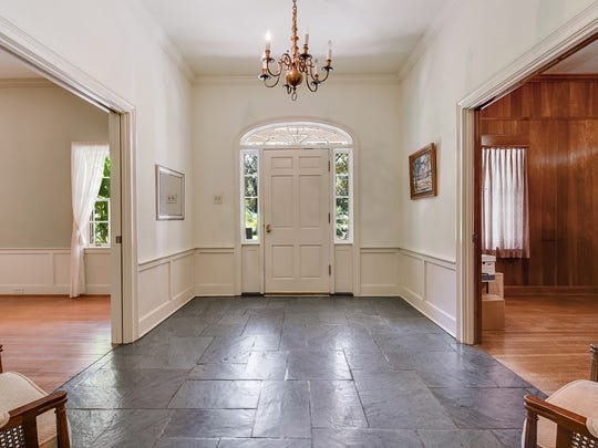 The ceilings are high with finishes that add timeless
