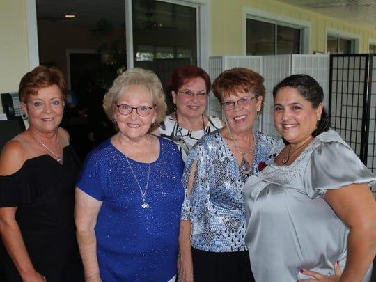 Susie Hatch, Pat Alley, Sue Oliver, Linda Evans and