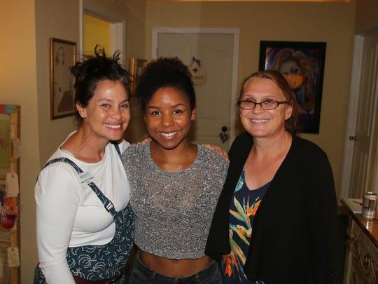 Mindi Fetterman, left, Josie Hosein, Anne Alexander