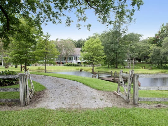 The home sits on more than 50 acres of prime property