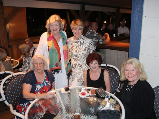 Terri Leone, left, Candace Banack, Kathy Gilmartin, Patricia Rogers, at Pat Bercier at the Dollars for Scholars fundraiser on Jan. 28.