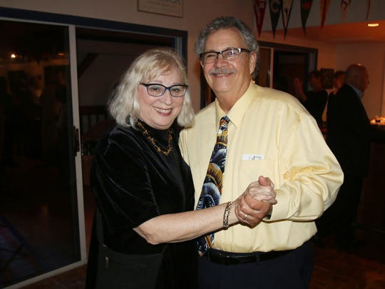Carol and Paul Amaru at the Fort Pierce Jazz & Blues Society's Dollars for Scholars event at the Fort Pierce Yacht Club.