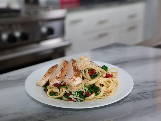 Basil garlic chicken fettuccine.