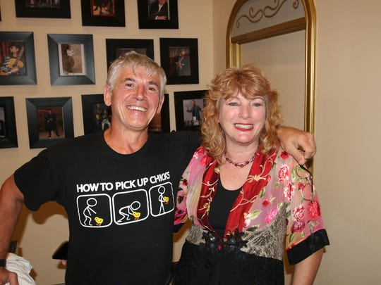"Julian and Kim Laffont at Stuart's Lyric Theatre for ""Boogie Fever: A Tribute to Saturday Night Fever"" on March 17."