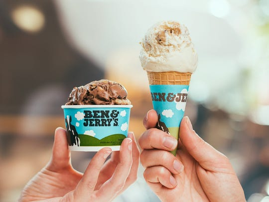 Cup or cone? It's your choice during Ben & Jerry's