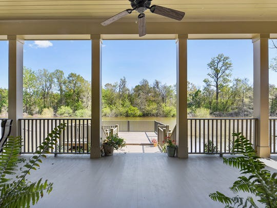This home overlooks the bayou near Butte LaRose.