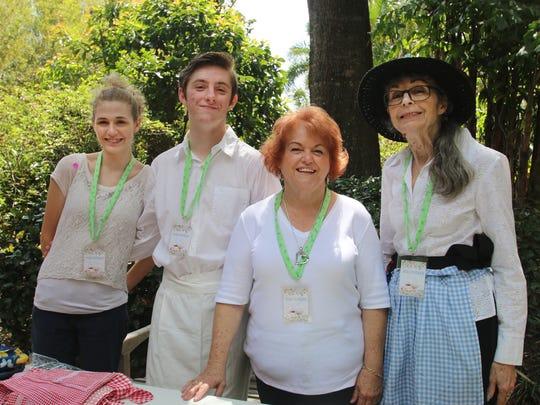 Volunteers Kelly Cooper, Austin Tausch, Patsy Nelson,