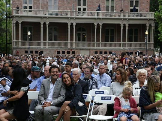 The University of Nevada, Reno commencement ceremony on Friday evening, May 18, 2018.